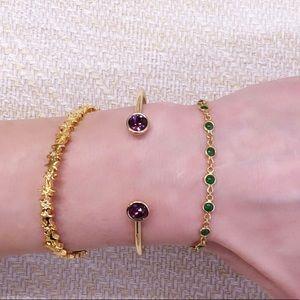 kate spade Jewelry - Kate Spade Gold & Crystal Cuff / Bangle Bracelet